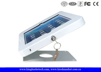 Universal Anti Theft Countertop Tablet Kiosk Stand With Key Locking And Screws Mounting